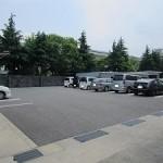 広々としたテナント専用駐車場(物件南側)